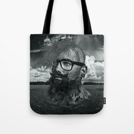Eco Hipster Black and White Tote Bag