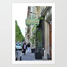 Fleurs in Paris Art Print
