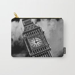Big Ben | London, England | Black and White | Fine Art Travel Photography Carry-All Pouch
