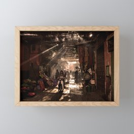 Streets of Marrakech | Morocco  Framed Mini Art Print