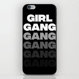 Girl Gang - Black iPhone Skin