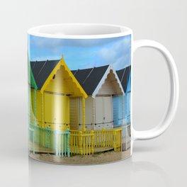 Bright Beach Huts Coffee Mug