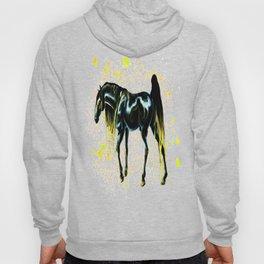Yellow Love Horse Hoody