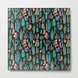 cactus in the nigth Metal Print