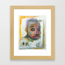 Fact Over Fiction (For The First Time In Years) Framed Art Print