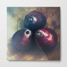 Florentine Fruit - Red Anjous - Pear Still Life Metal Print