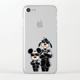 Mickey Mouse and Goofy Clear iPhone Case