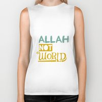 islam Biker Tanks featuring Follow Allah Not The World by Berberism Lifestyle