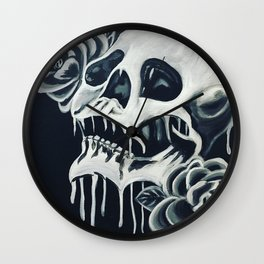 Black and White Skull Wall Clock