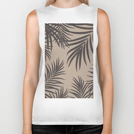 Palm Leaves Pattern Sepia Vibes #1 #tropical #decor #art #society6 Biker Tank