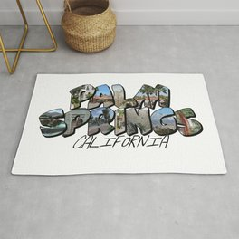 Large Letter Palm Springs California Rug