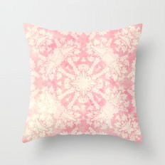 Shabby Arabesque Pattern II Throw Pillow