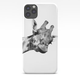 Black and white giraffe iPhone Case