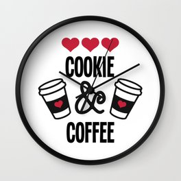Cookie & Coffee Crew Merry Christmas Wall Clock