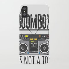 A Boombox is not a toy Slim Case iPhone X