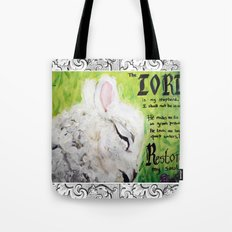 The Lord Restores Psalm 23 Tote Bag