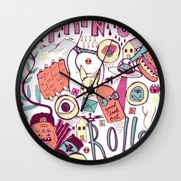 Spring Rolls Wall Clock