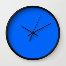 Unfinished ~ Bright Blue Wall Clock