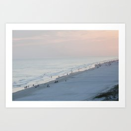 Sea Meets Land Art Print