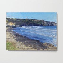 Yorkshire,England, Sandsend abstract. Metal Print
