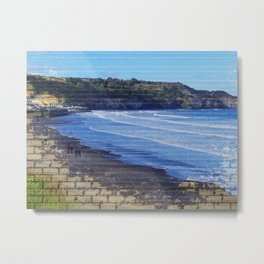 Yorkshire,England, Sandsend abstract. Metal Print