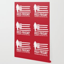 Red Friday Remember Deployed Military Wallpaper