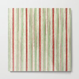 Grungy Old Fashioned Candy Stripe Abstract Metal Print