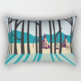 Sleepy Mountains Rectangular Pillow