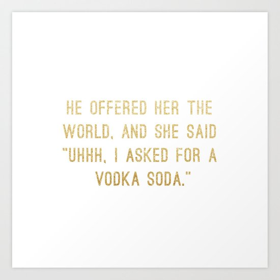 Vodka Soda by randomactsofcotton