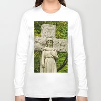 religious Long Sleeve T-shirts featuring Religious Statue by Michael Moriarty Photography