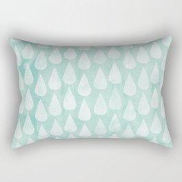 Big Drops Blush Blue Rectangular Pillow
