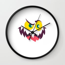 Funny And Cute Halloween Monster Costume Gift Wall Clock