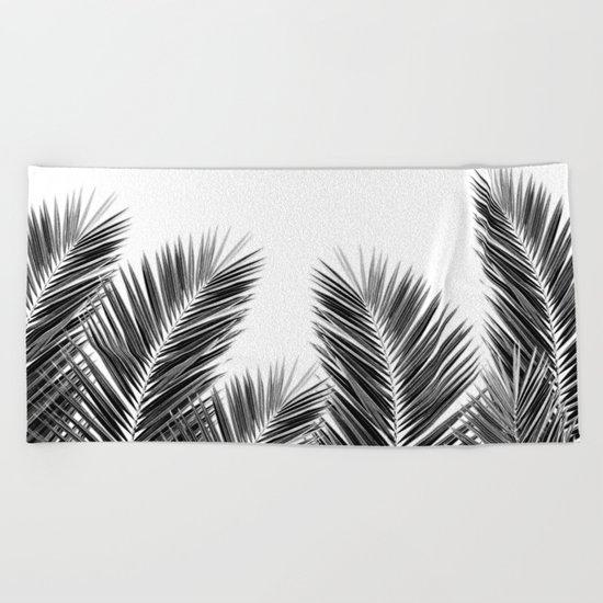 White Palm Skies Beach Towel