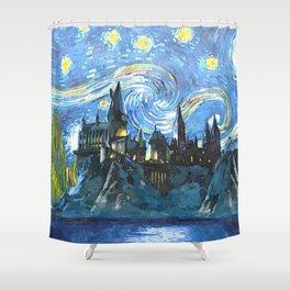 Night Castle Shower Curtain