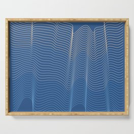 Blue Waves Serving Tray