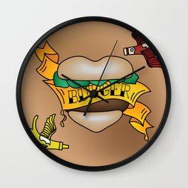 Burger Tattoo Wall Clock