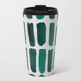 Teal Dashes Travel Mug