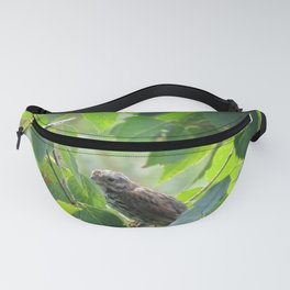 SPARROW IN THE GREEN - FACING LEFT Fanny Pack
