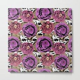 Brown purple flower Metal Print