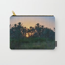 Sunset on plam tree Carry-All Pouch