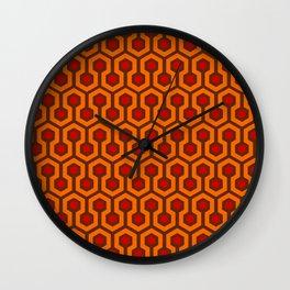Horror Hotel Carpet Pattern Wall Clock