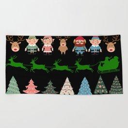 Christmas Elves & More Beach Towel