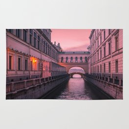 Hermitage Bridge, Saint Petersburg, Russia Rug