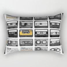 Retro Tapes Rectangular Pillow