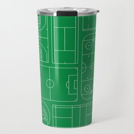 Sport Courts Pattern Art Travel Mug