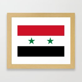 Syrian flag - may PEACE prevail Framed Art Print