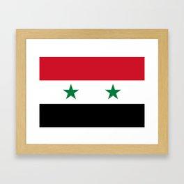 Syrian flag - may PEACE prevail Framed Art Print
