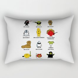 Mr. and Little Miss SW Rectangular Pillow