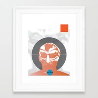 mf doom Framed Art Prints featuring Vinyl Set- MF DOOM by The_Section
