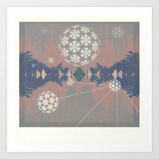 Natural Grid Art Print